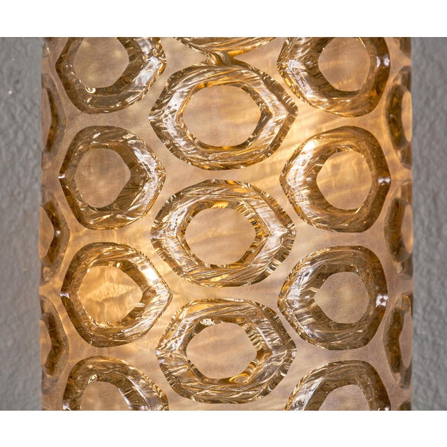 Modernist Murano Glass Stamped Sconces - a Pair For Sale In Austin - Image 6 of 10