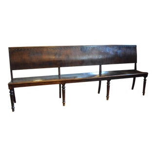 1900s Arts and Crafts Handmade Solid Wood Bench For Sale