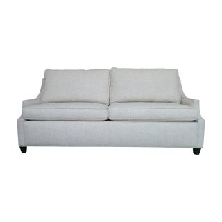 Contemporary Slope Arm Sofa White