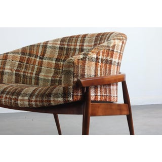 Pair of Mid-Century Barrel Chairs by Milo Baughman in Original Plaid Preview