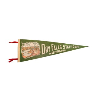 Vintage Dry Falls State Park Washington Felt Flag Pennant