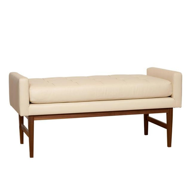 2010s Bailey Tufted Bench For Sale - Image 5 of 5