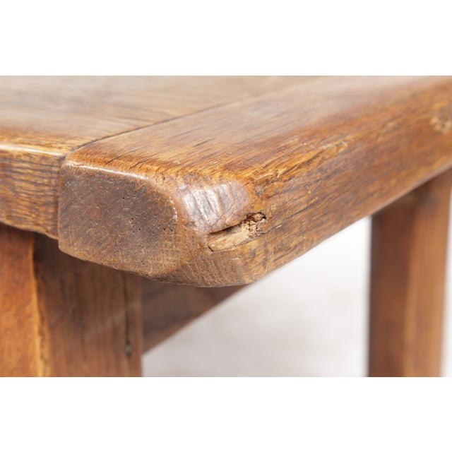 Antique Monestary-Style Oak Coffee Table - Image 9 of 9