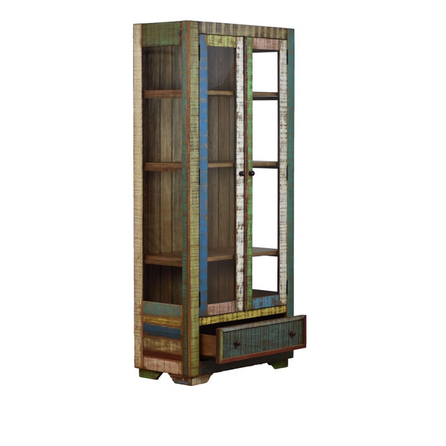 Country Reclaimed Wood Display Cabinet For Sale - Image 3 of 3