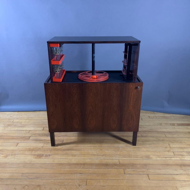 Kai Kristiansen Rosewood Hydraulic Bar Cabinet, 1968 For Sale - Image 12 of 12