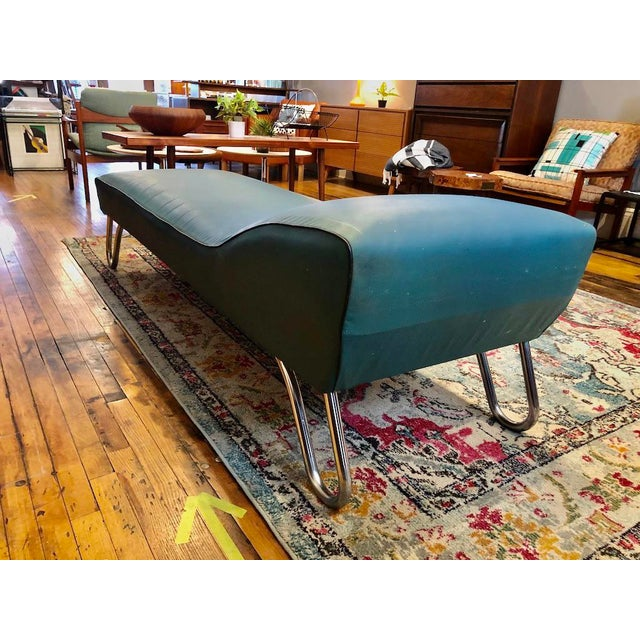 Metal Art Deco Chaise Lounge/Daybed by Kem Weber For Sale - Image 7 of 13