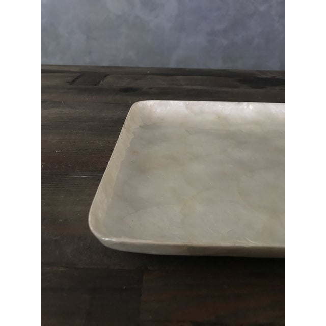 Square Capiz Shell Tray For Sale In San Francisco - Image 6 of 6