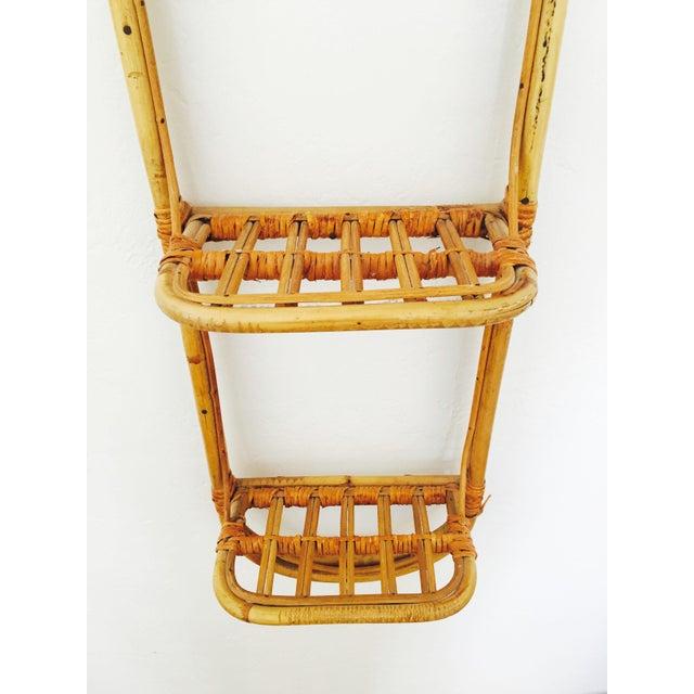 Vintage Bent Bamboo Wall Shelf   Chairish
