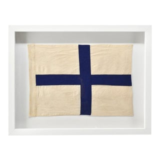 "NauticalCoastal Wall Decor Signal Flag ""X"" Framed For Sale"
