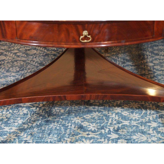 Antique French Louis Philippe Mahogany Leather Top Drum Table, circa 1840 For Sale In New Orleans - Image 6 of 7