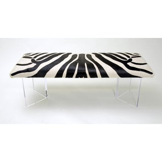 V Zebra Black & White Bench Preview