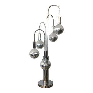 Chrome Waterfall Table Lamp For Sale