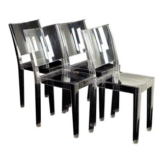Phillipe Starck for Kartell La Marie Mid Century Clear Acrylic Dining Chairs - Set of 4 For Sale