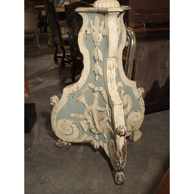 Large and Unique 18th Century Painted Wooden Jardiniere From Bruges For Sale - Image 11 of 13