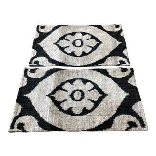Allary Silk Velvet Ikat Pillows - Set of 2 For Sale