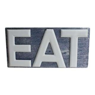 1930's Porcelain Eat Sign For Sale