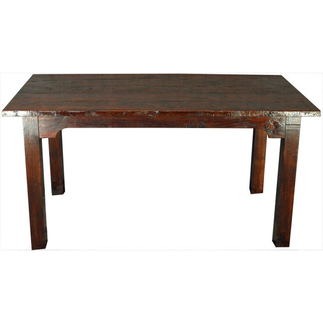 French Country Plank-Top Dining Table - Image 1 of 8