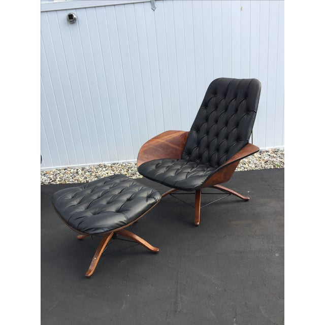 George Mulhauser for Plycraft Luxe Lounge Chair and Ottoman - Image 2 of 9