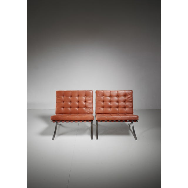 1950s Pair original Barcelona chairs, 1st Knoll edition, 1950s For Sale - Image 5 of 8