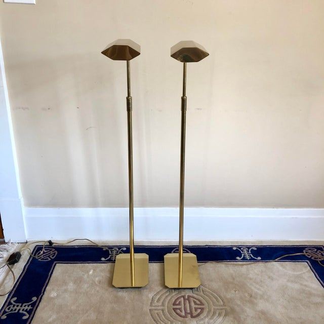 Mid-Century Modern Anthony Howard Koch & Lowy Brass Adjustable Floor Lamps- a Pair For Sale - Image 3 of 10