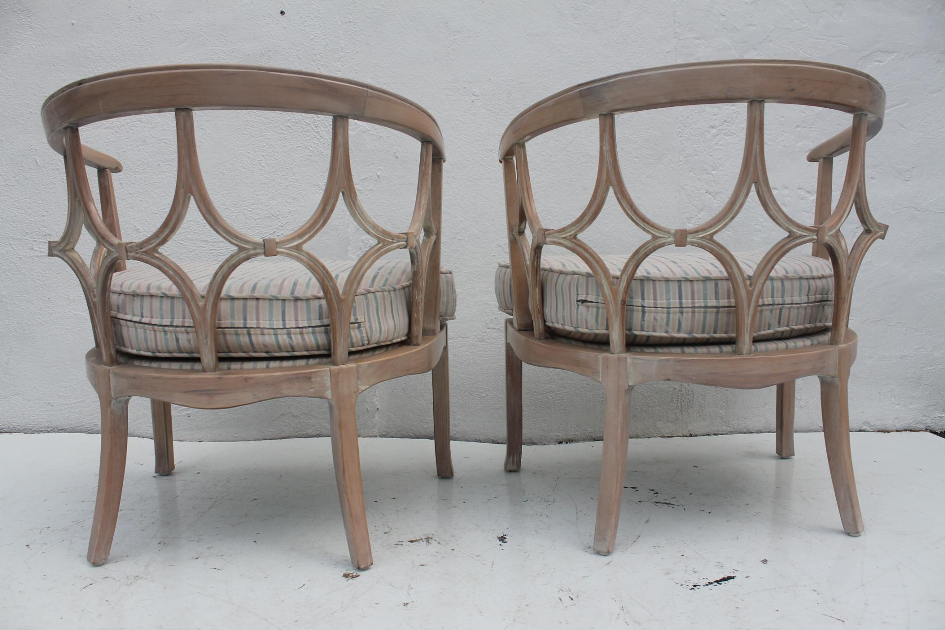 Beau Dorothy Draper Style Hollywood Regency Chairs A Pair   Image 4 Of 11