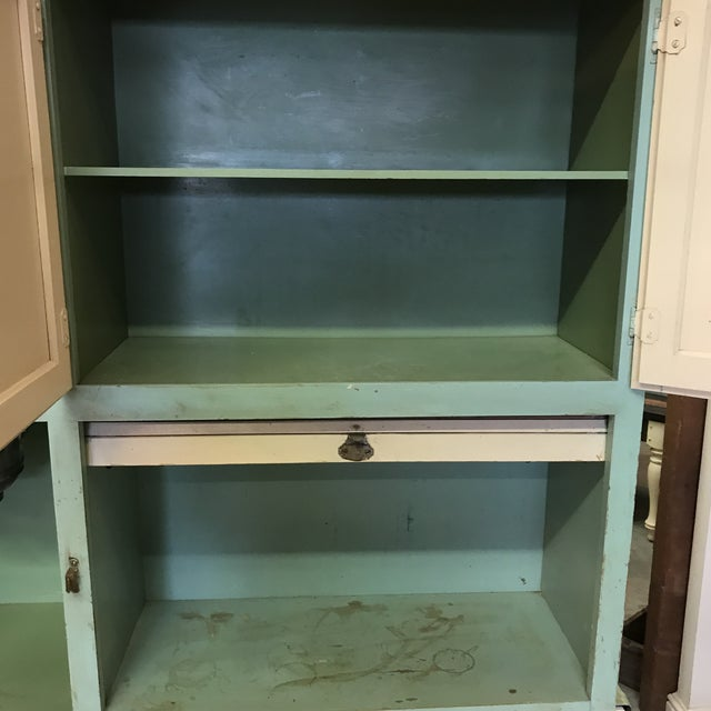 Wood Early American Hoosier Style Kitchen Cabinet For Sale - Image 7 of 11