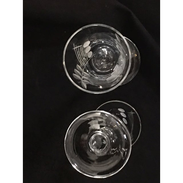 Vintage Etched Shot Glasses - Set of 12 - Image 7 of 9