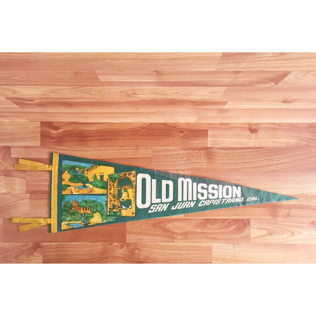 Old Mission San Juan Capistrano California Pennant - Image 2 of 5
