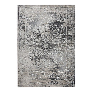 "Modern Distressed Grey & Taupe Scroll Rug by Rizzy Home - 7""10 X 10'10"""