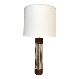 Chrome and Rosewood Laurel Lamp For Sale