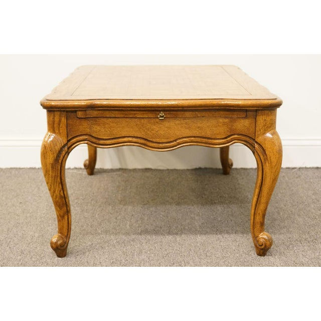 Wood Weiman Furniture Country French Parquet Top Coffee Table For Sale - Image 7 of 12