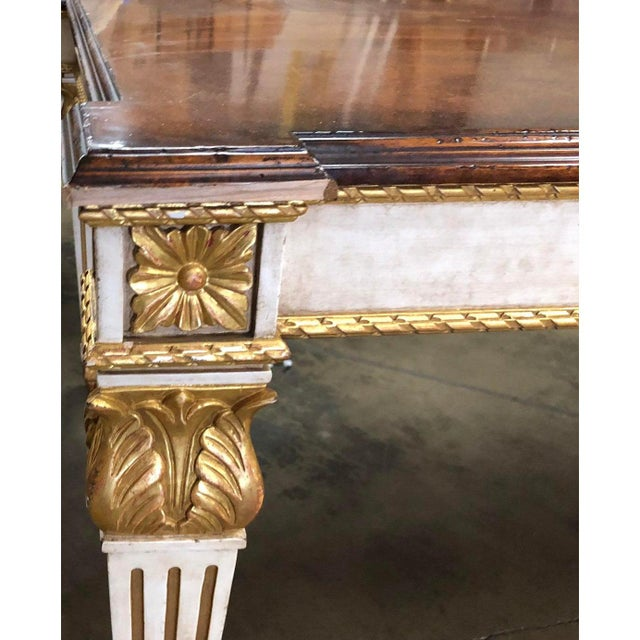 Nancy Corzine Nancy Corzine Neoclassical Designer Giltwood Dining Table For Sale - Image 4 of 6
