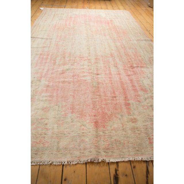 "Vintage Distressed Oushak Carpet - 6'2"" X 10'8"" For Sale - Image 12 of 13"