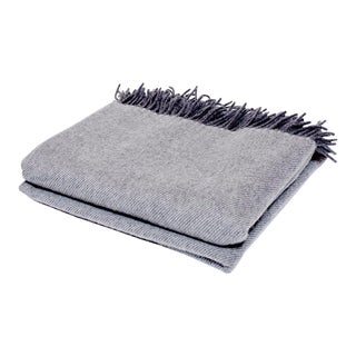 Contemporary Cashmere Collection Smoke Throw For Sale