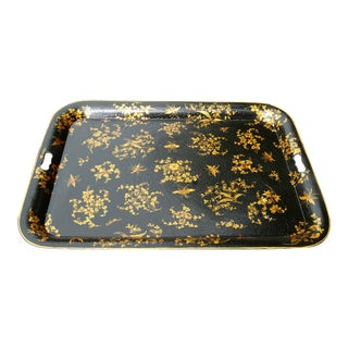 Antique French Gilt Tole Tray For Sale