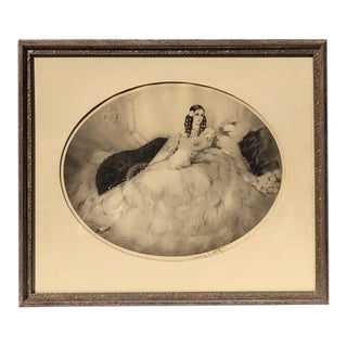1931 Vintage Louis Icart Hand-Signed Aquatint Etching Print For Sale