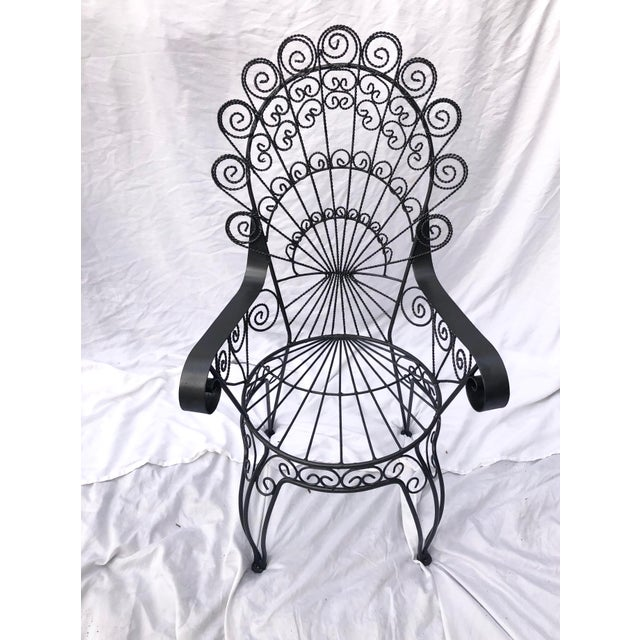 Metal Vintage Wrought Iron Patio Chairs For Sale - Image 7 of 8