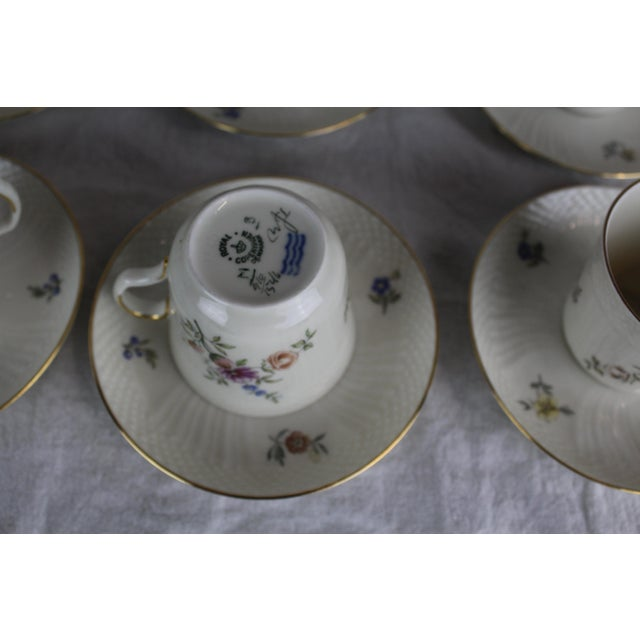 1950s Royal Copenhagen Cups & Saucers - Service for 12 For Sale - Image 5 of 8
