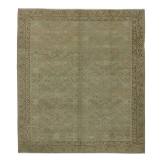 Modern Turkish Oushak Rug with Transitional Style and Khotan Design