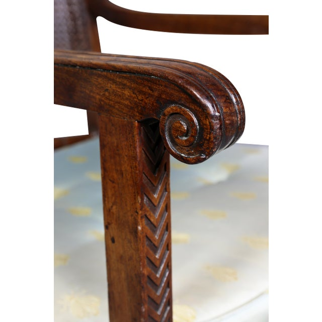Regency Mahogany and Ebony Inlaid Armchair For Sale - Image 4 of 13