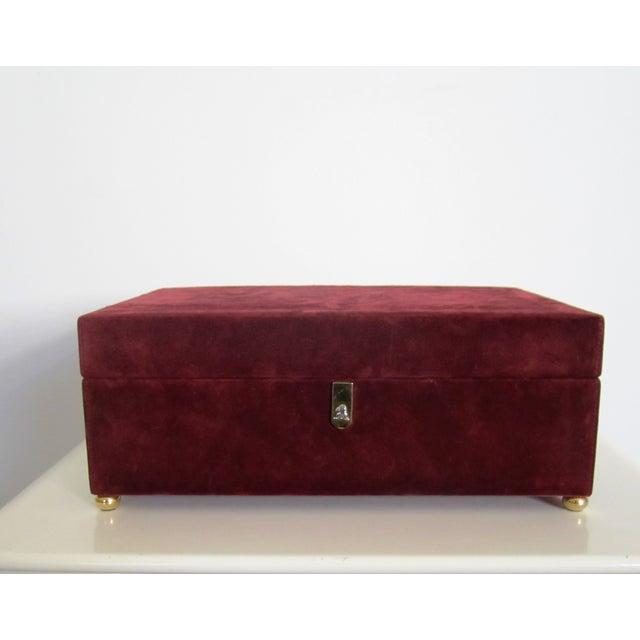 Mark Cross Italian Suede & Leather Jewelry Box - Image 3 of 10