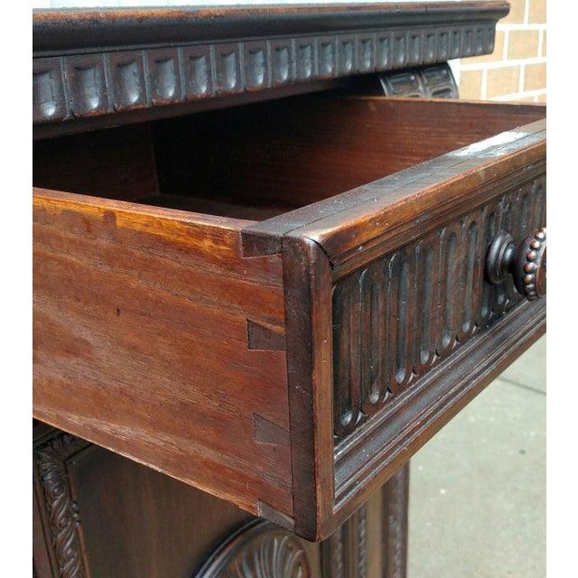19th C. Renaissance Revival Figural Carved 3 Door Sideboard Server - Image 8 of 10