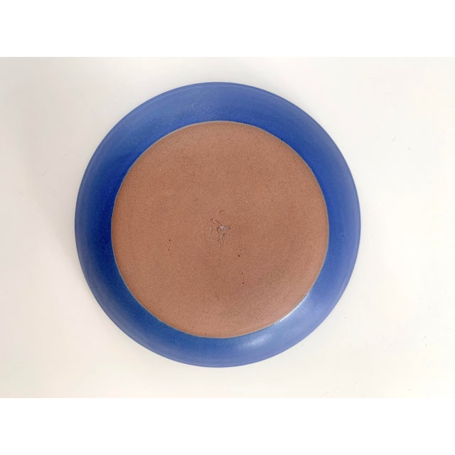 Bright Blue Ceramic Bowl For Sale - Image 10 of 11