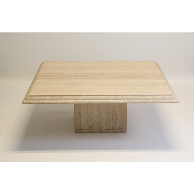 Modern Travertine Coffee Table For Sale In New York - Image 6 of 6