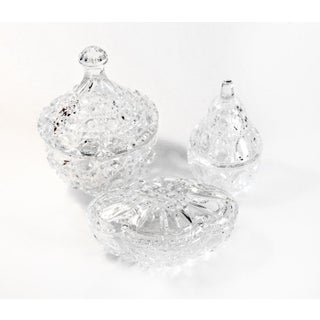 Cut Crystal Trinket Dishes - Set of 3 Preview
