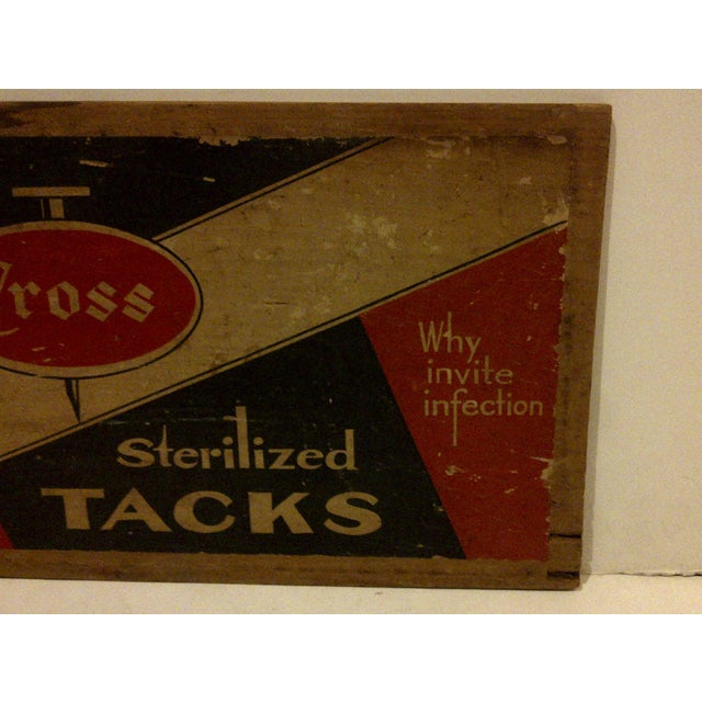 """Vintage Wood Crate Siding """"Cross Sterilized Tacks"""" For Sale - Image 4 of 5"""