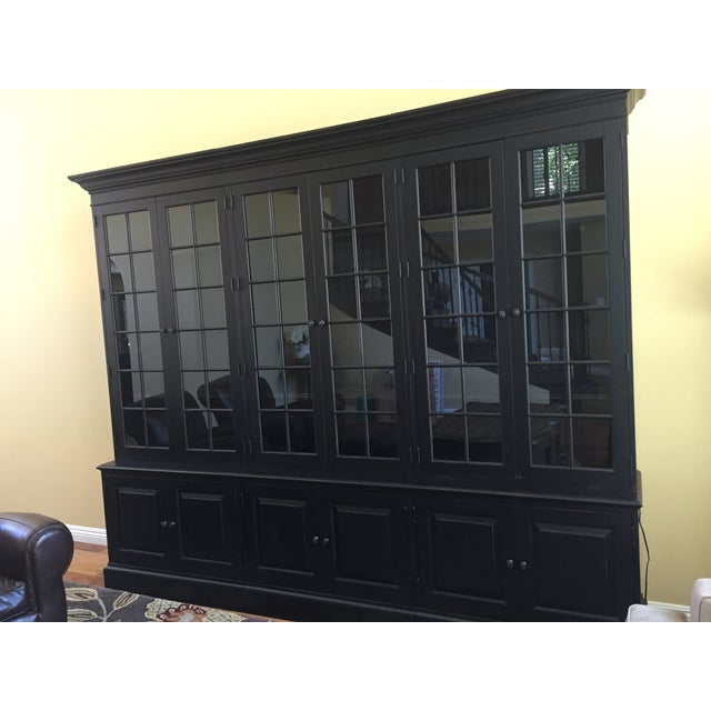 Black Ethan Allen Villa Triple Bookcase - Image 6 of 8