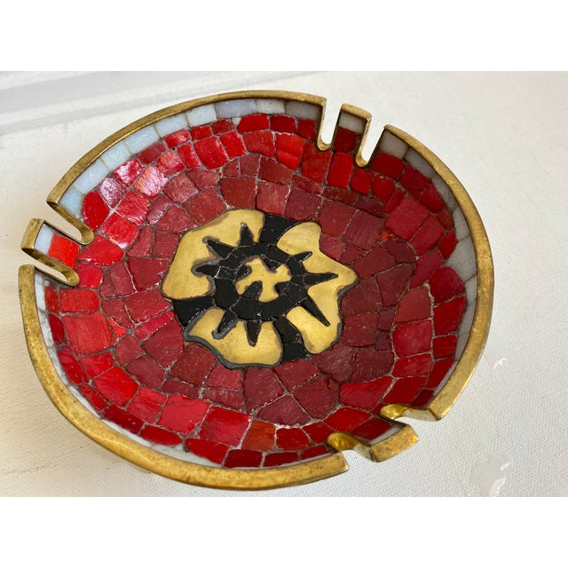 Mid 20th Century Salvador Teran Brass and Glass Decorative Bowl For Sale - Image 5 of 6