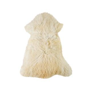 "Contemporary Long Wool Sheepskin Pelt/Handmade Rug - 2'1""x3'1"" For Sale"
