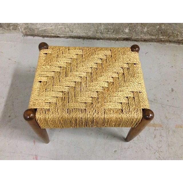 Vintage Mid-Century Woven Rope Footstool - Image 6 of 8